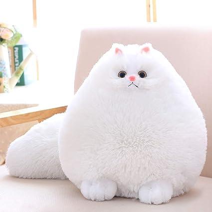 17e99dee9cd13 Amazon.com: Winsterch Kids Cat Stuffed Animal Toys Gift Plush Cat Animal  Baby Doll, Fat White Plush Cat,12 Inches: Toys & Games