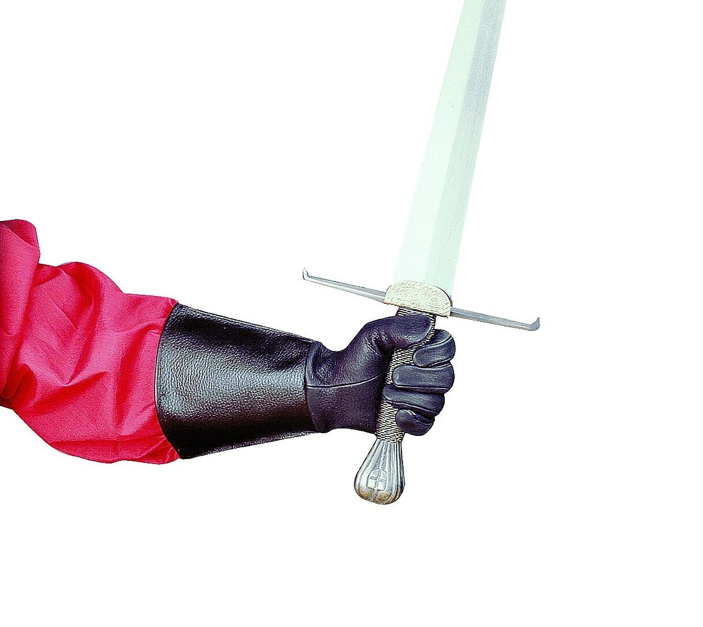Deluxe Leather Suede Gloves: Men's Musketeer Swordsmen Costumes