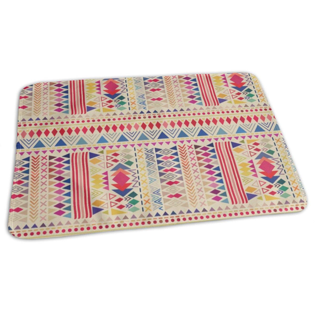 Osvbs Lovely Baby Reusable Waterproof Portable Aztec Style Pattern with Triangle and Line Changing Pad Home Travel 27.5''x19.7'' by Osvbs