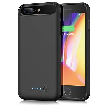 Yacikos Funda Bateria para iPhone 6 plus/6s Plus/7 Plus/8 Plus, 6000mAh Funda Cargador Bateria Externa Portatil Recargable Protector Carcasa Bateria ...