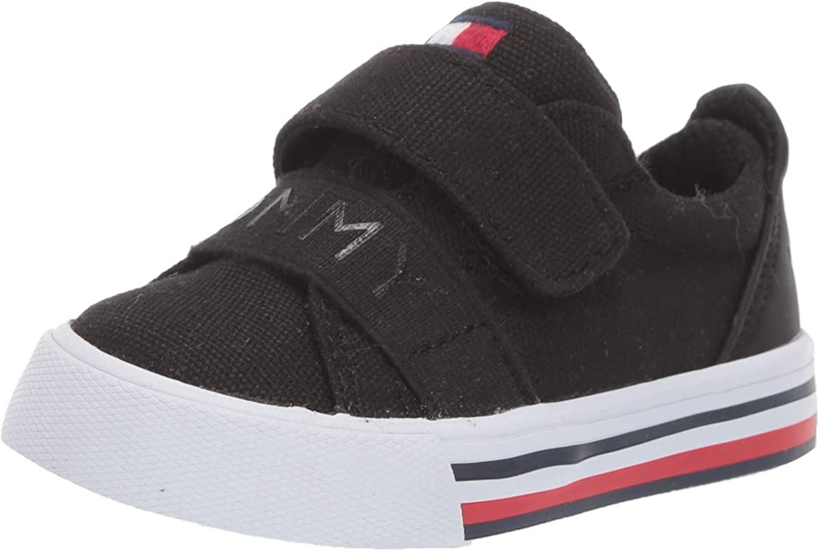 Tommy Hilfiger Unisex Kids Iconic Court Alt Sneaker Black-t 11 Medium US Little
