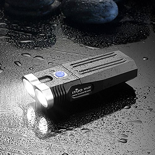 ITUO Led Bike Headlight - Flashlight USB Rechargeable User Programmable Constant 1500lm Neutral White 2x18650 Battery Replaceable ( Wiz20 (Wiz Headlamp)