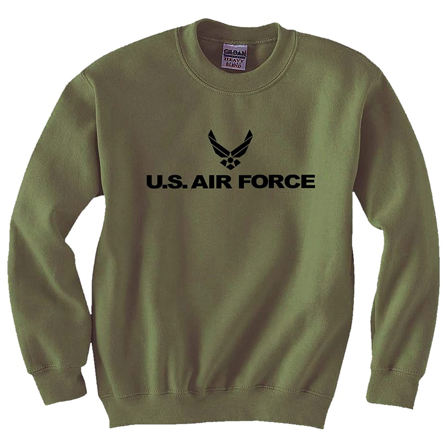 Air Force - Military Style Physical Training Crewneck Sweatshirt in Military Green