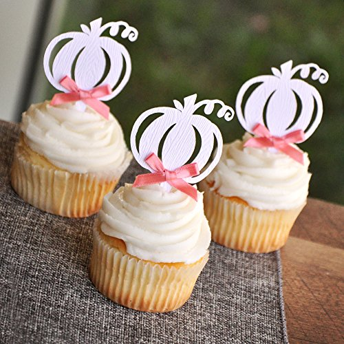 Pumpkin Woodgrain Cupcake Toppers. Fall Wedding Cupcake Toppers. Halloween Cupcake Toppers. Set of (Halloween Wedding Pumpkin Cake)