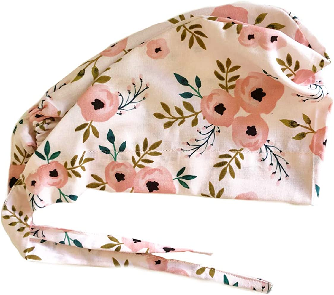 Grace N May Womens Front Fold Tie Back Scrub Cap Surgical Cap Cute Patterns