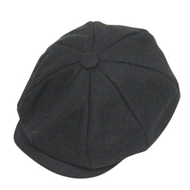 f2320deabe3 Liying Men Gentlemen 3 4 Season Peaked Cap Brim Cap Tweed Beret Hat Gift   Amazon.co.uk  Clothing