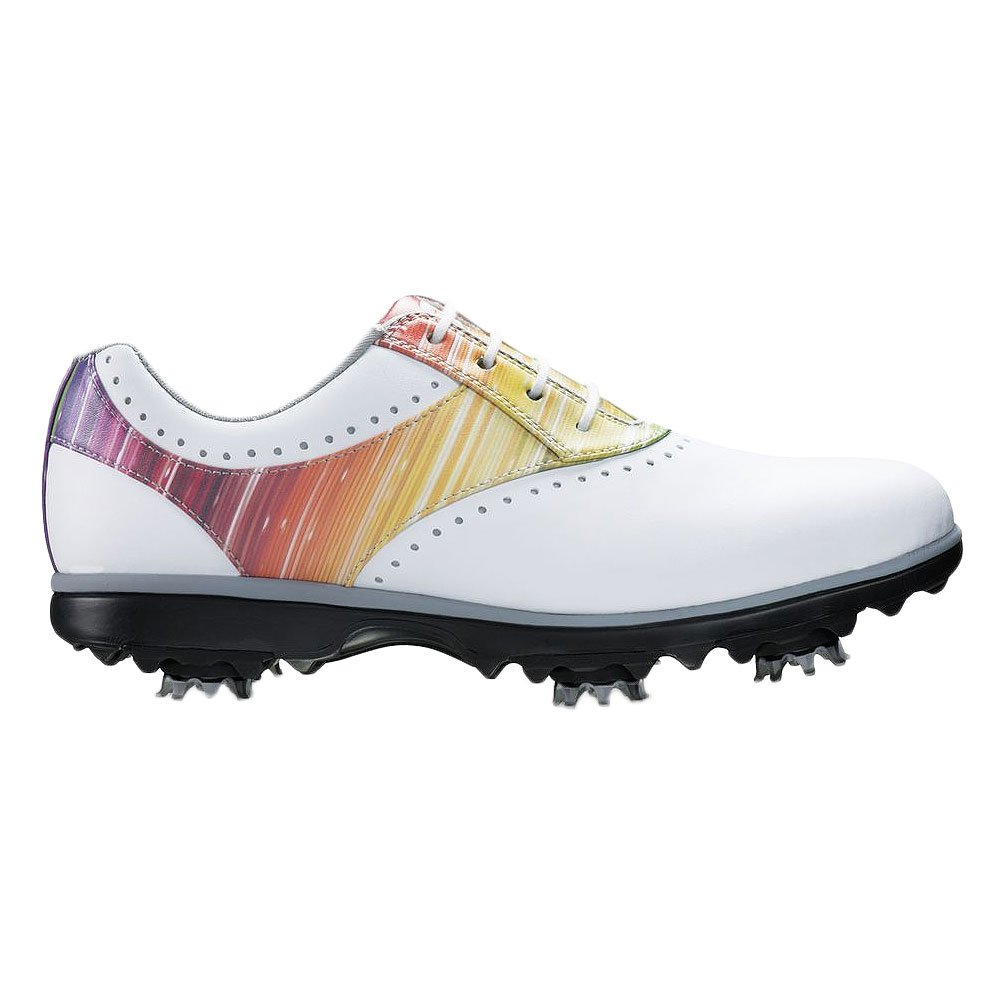 FootJoy Emerge Golf Shoes Closeout 2017 Women White/Rainbow Medium 8