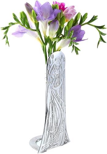 Stunning Scottish Polished Pewter Stem Vase – Charles Rennie Mackintosh Angel