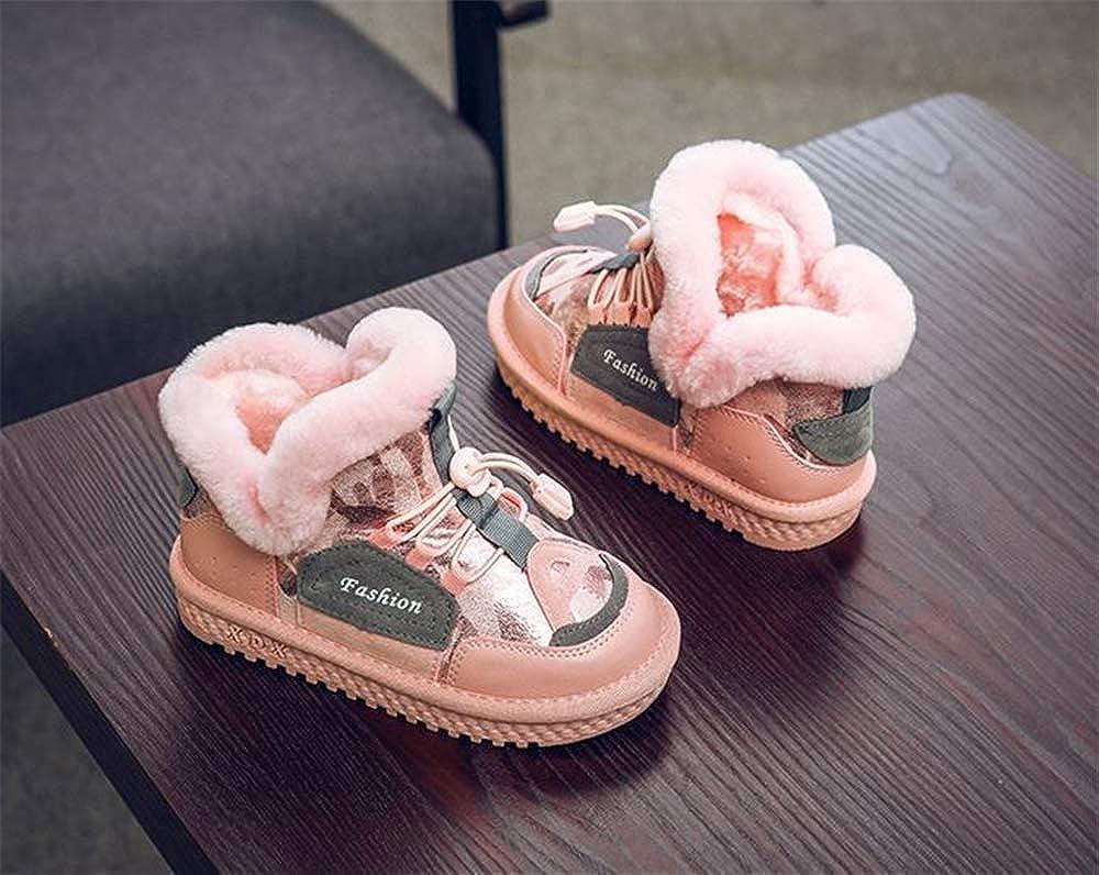 Fancyww Kids Waterproof Winter Snow Boots Outdoor Warm Ankle Shoes Sport Sneakers