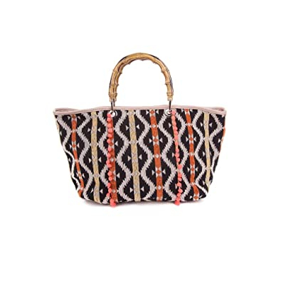 cc8c545f4090 Angkorly - Sac à main Cabas porté épaule Tote bag Fourre-tout corde tressé  Folk