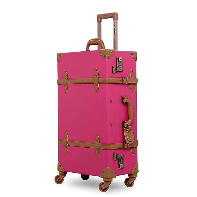 unitravel maleta Vintage equipaje con ruedas Spinner Retro estilo maleta: Amazon.es: Ropa y accesorios