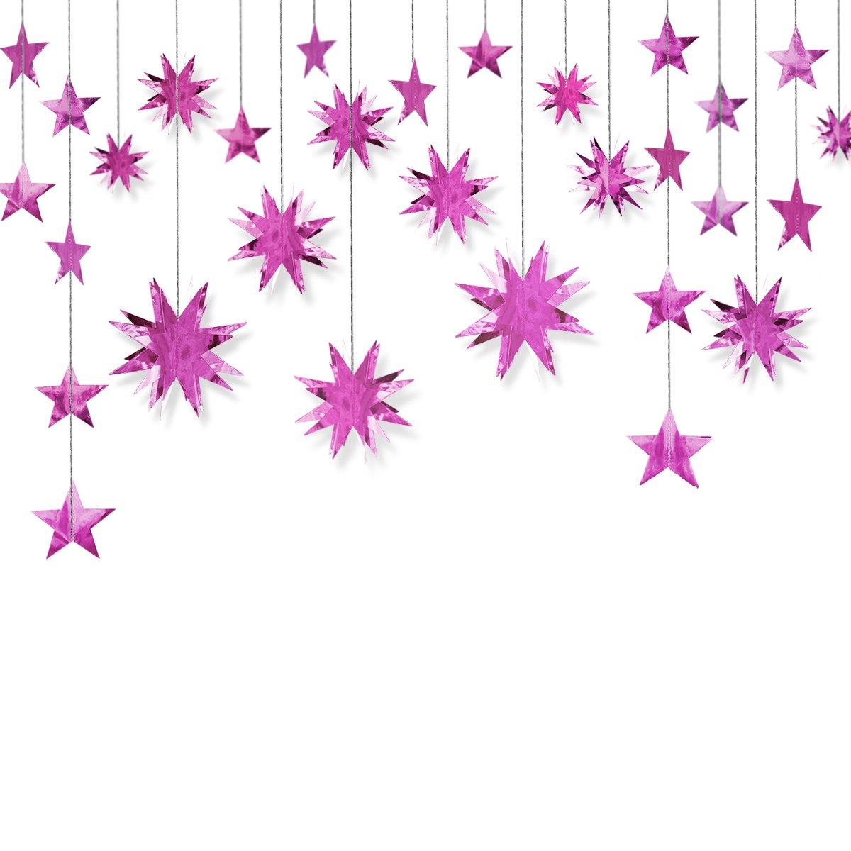 Amazon Pinkblume Pink Decorations Kitstar Paper Garland3d