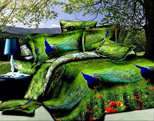 3 Piece Set Peacock Soft 3d Comforter Set (017) (King)
