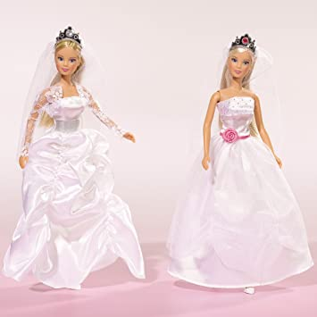 barbie mit hochzeitskleid