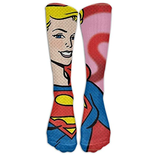 1b5cbf689 Comics Supergirl Sweetheart Knee High Graduated Compression Socks For Women  And Men - Best Medical