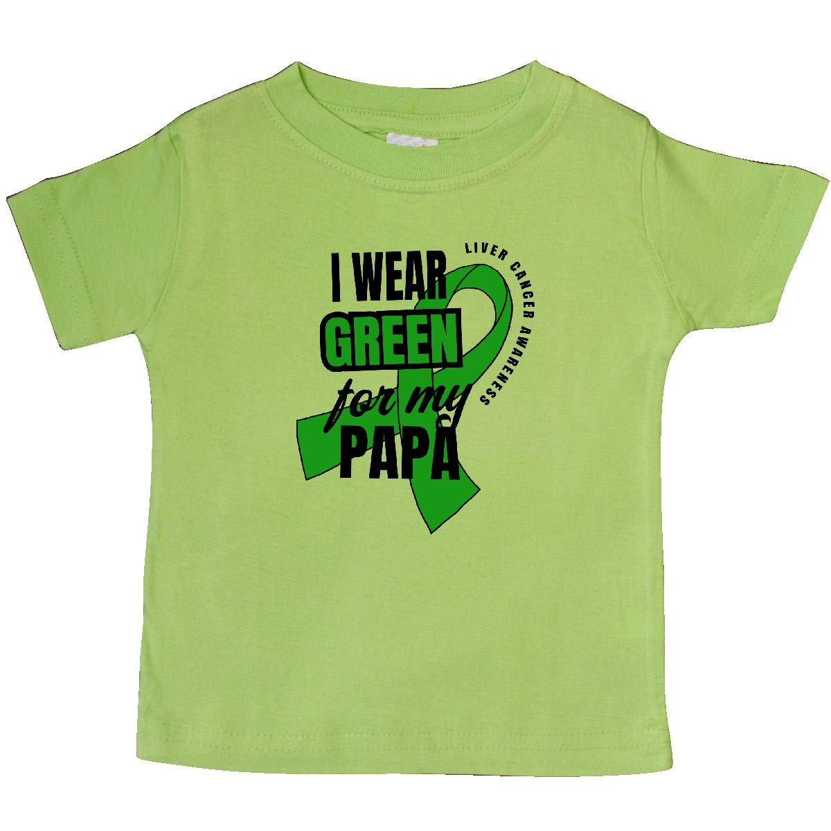 inktastic I Wear Green for My Papa Liver Cancer Awareness Baby T-Shirt
