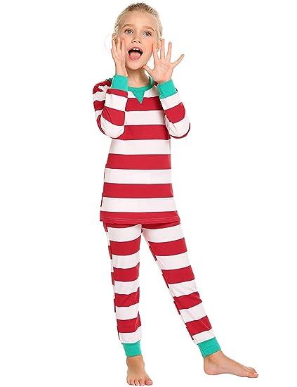 Dorani Family Matching Christmas Pajamas Set Striped Print Family Sleepwear a0cc8b6b8