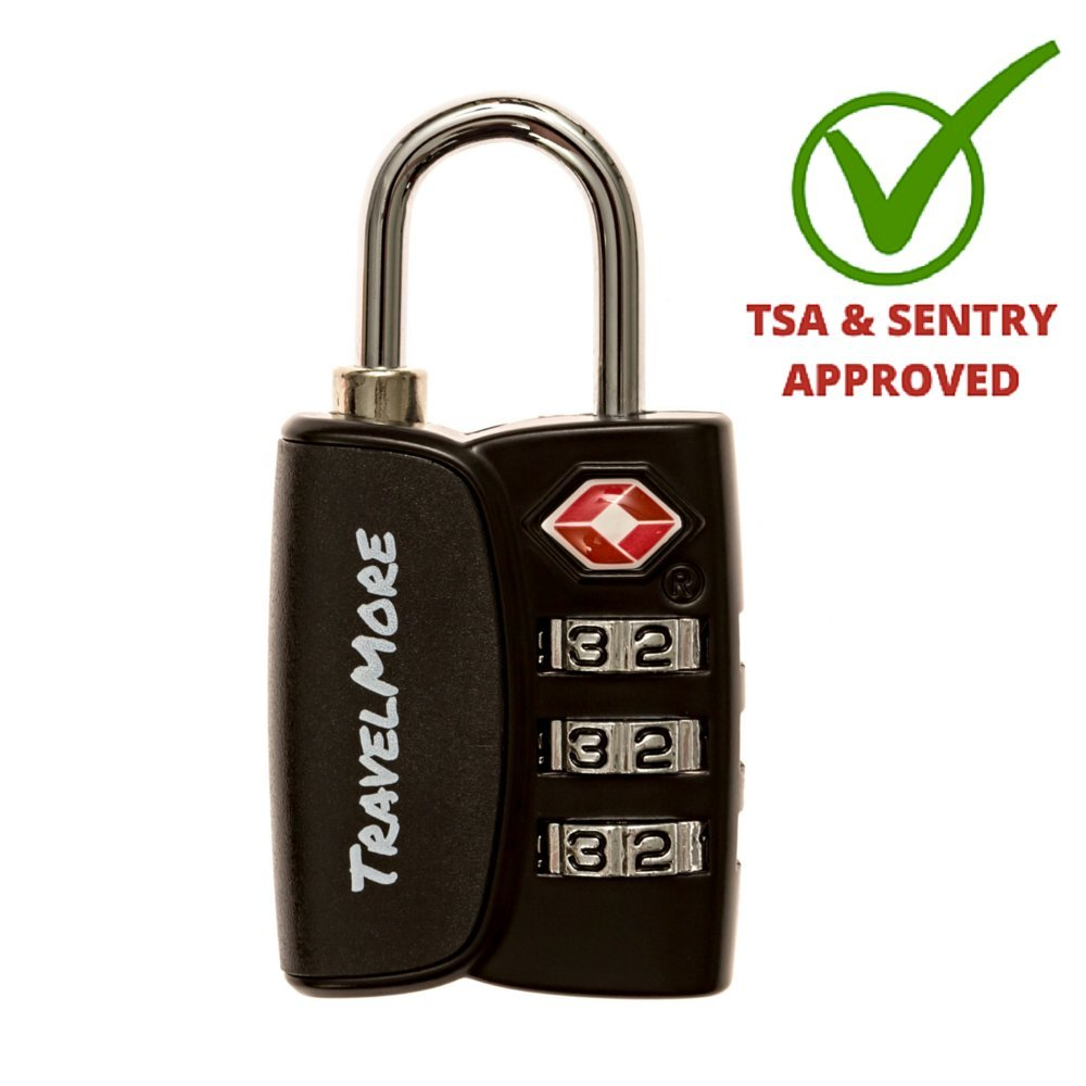 TSA Approved Travel Combination Luggage Locks for Suitcases & Backpacks...