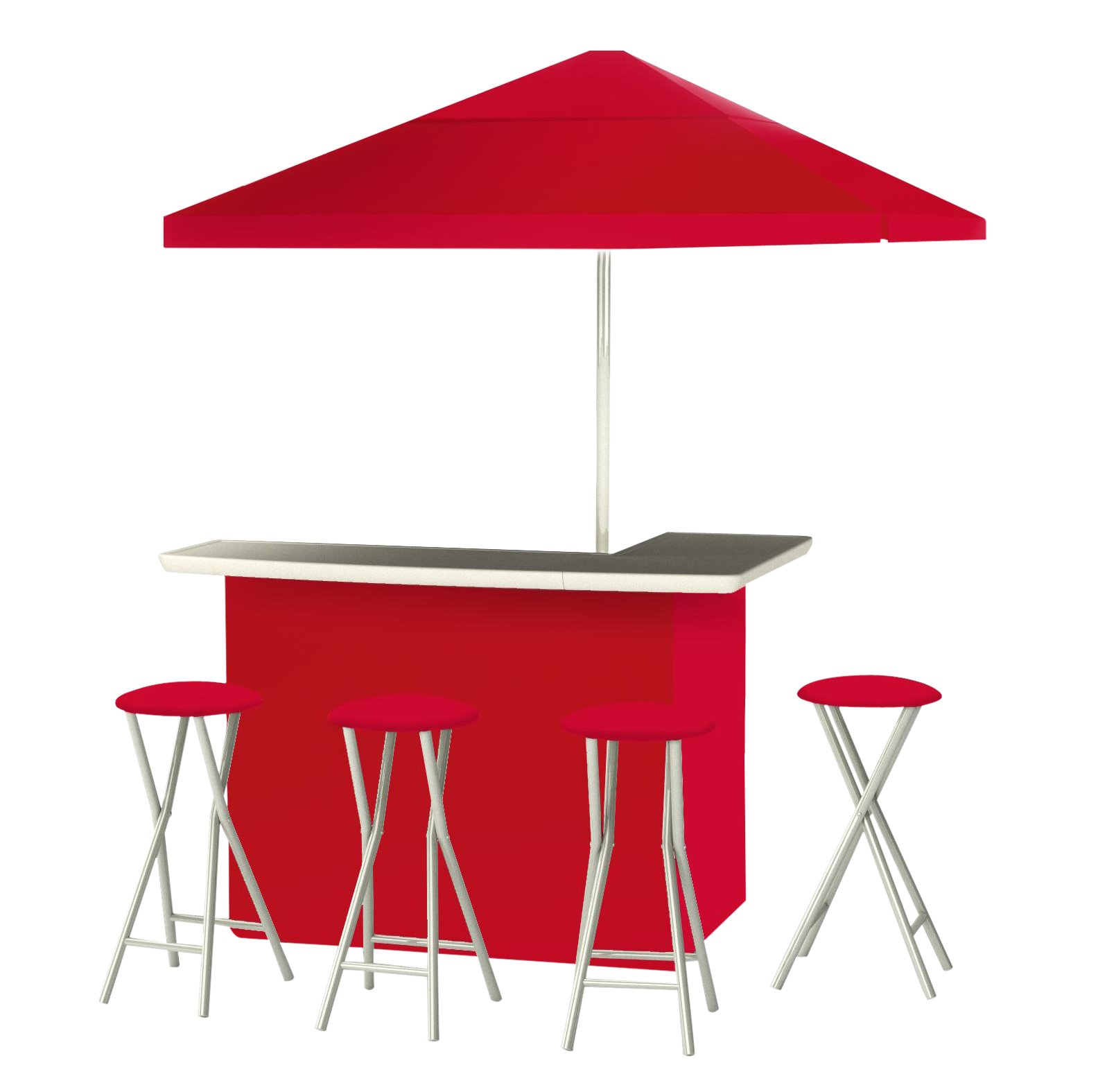 Best of Times Patio Bar and Tailgating Center, Deluxe Package, Red