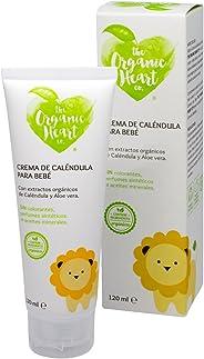 Organic Heart Crema de Calendula Orgánica para Bebé, 120 ml