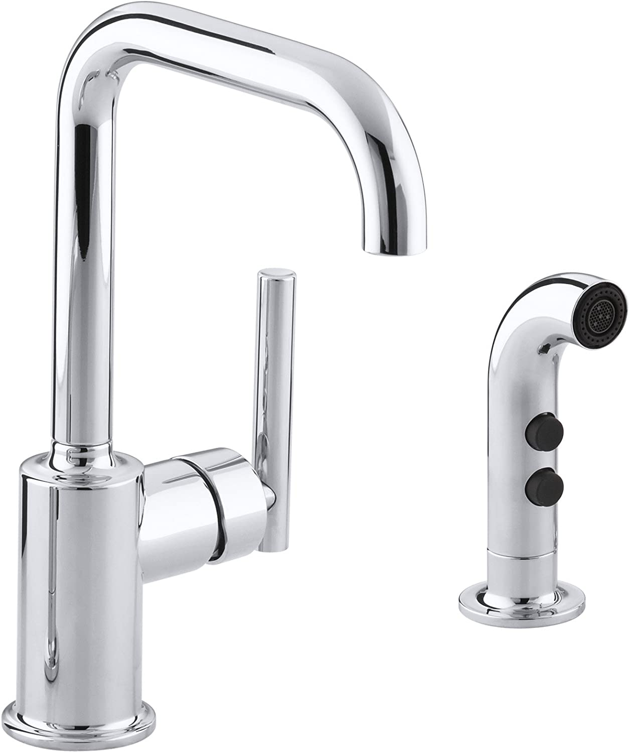 Polished Chrome KOHLER K-7511-CP Purist Secondary Swing Spout with Spray