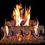 Peterson Real-Fyre 18-inch Live-Oak Log Set With Vented Burner, Match Light (Natural Gas Only)