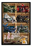 Lego Ninjago Movie Ninjas & Mechs Poster Magnetic Notice Board Black Framed - 96.5 x 66 cms (Approx 38 x 26 inches)