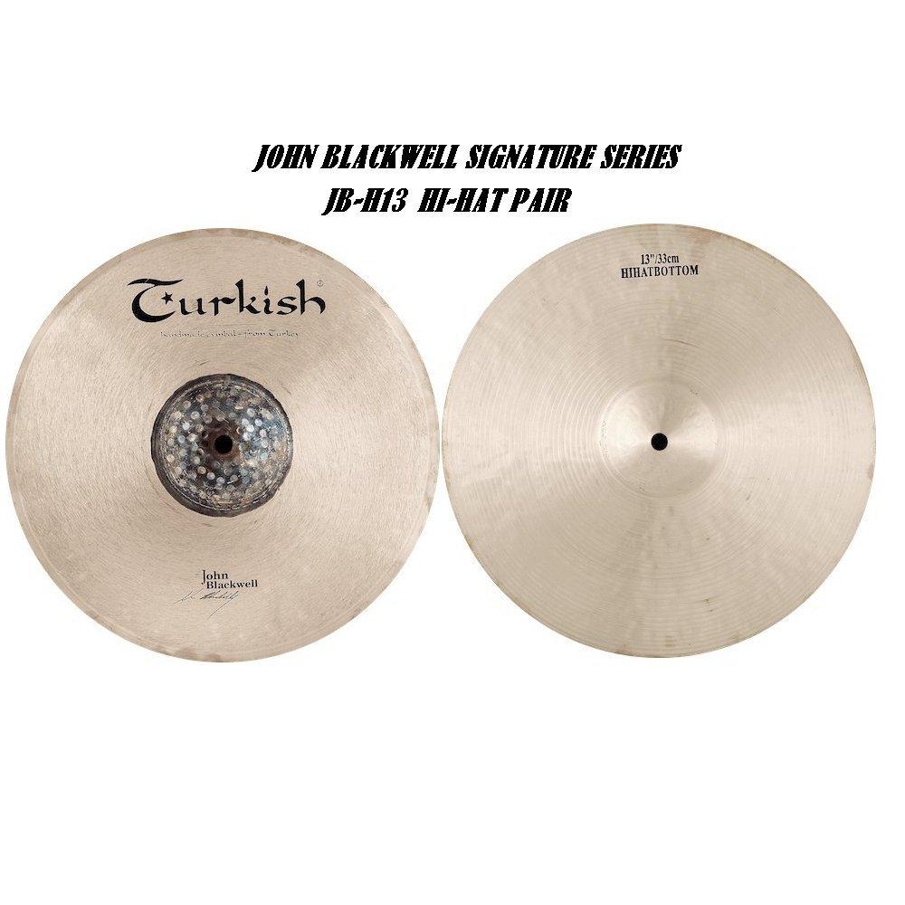 Turkish Cymbals Signature Series 13-inch John Blackwell Hi-Hat * JB-H13   B072RWFL67