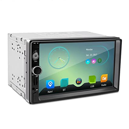 Sweetlife Radio de coche, GPS, 2 DIN, 7 pulgadas, HD ...