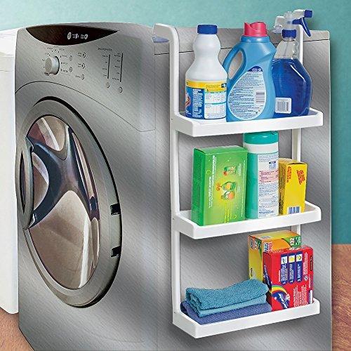 3-Tier Space Saving Storage Shelves - Hang Over Fridge Or Washing Machine