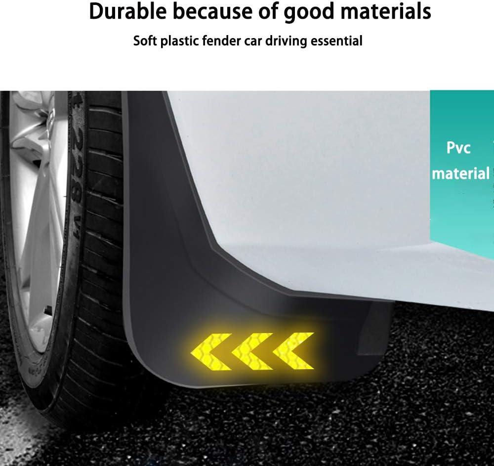 Auto Garde-boue Pour R enault Koleos MK1 2008-2016 Roues Avant Et Arri/ère Fender bavettes Plastique Pare-boue 4pi/èces//Ensemble+White arrow reflective sticker