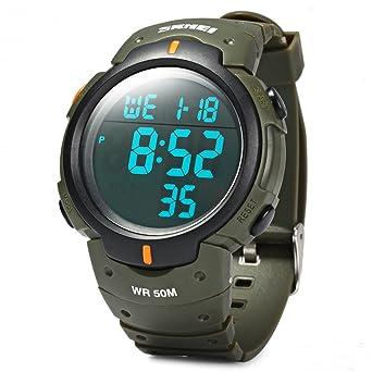 3103e5deca Skmei 腕時計 大きい文字盤 LED 防水 スポーツ デジタル LED表示 メンズ カジュアル ウォッチ 7色