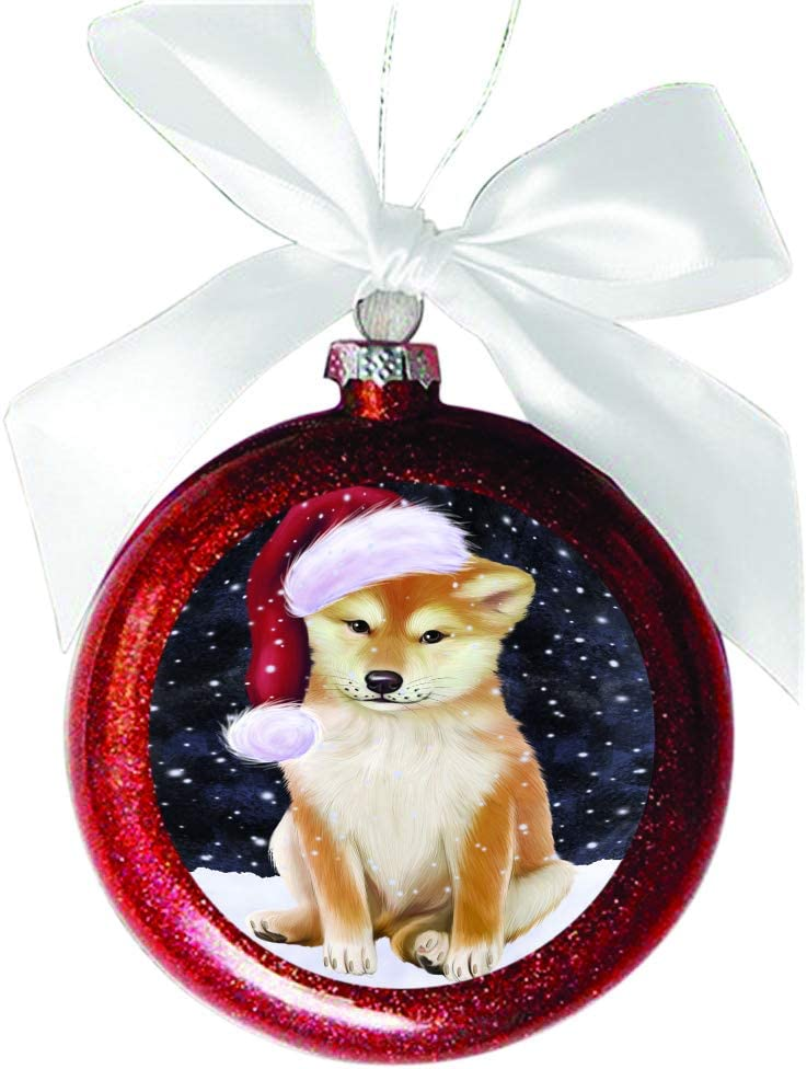 Shiba Inu Dog Christmas Holiday Ornament Up To Snow Good