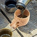 Kuksa Wooden Cup,Handmade Wood Camp Mug with
