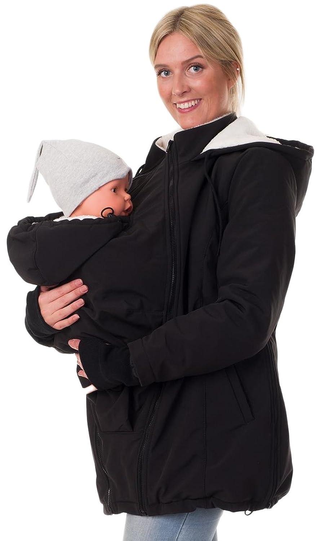 Divita 3in1 Tragejacke Umstandsjacke Softshell Winter gefüttert Mama Baby D49