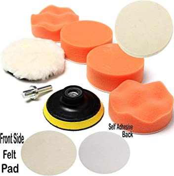 Car Buffing Pads Polishing Buffer for Drill Sponge Kit Set Waxing Foam Sealing