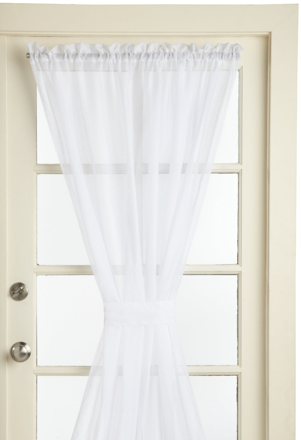Lorraine Home Fashions Reverie Snow Voile Tailored Door Panels