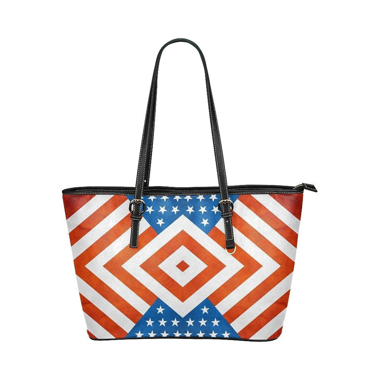 Nicedesigned Tote Bag America Leather Tote Shoulder Bag Handbag for Women Girls