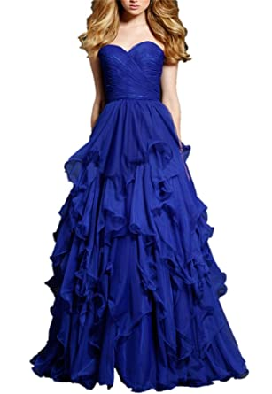 CCBubble Royal Blue Long Prom Dresses Sweetheart Evening Party DressCXY151-2