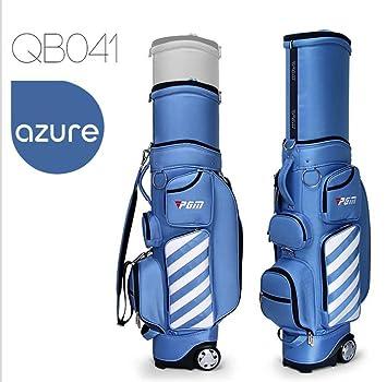 Kofull - Bolsa de golf retráctil con ruedas para viajes, bolsa de golf, azul claro: Amazon.es: Deportes y aire libre