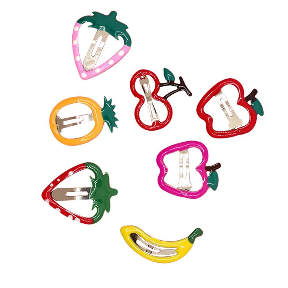 Lurrose 14pcs Hair Clip for Kids with Fruit Shape Hair Barrette for Girls