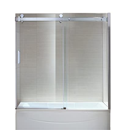 Ove Decors Sierra Overbath 5/16 Tempered Clear Glass Screen Panels, 59 Inch
