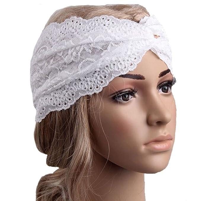 Amazon.com: dzt1968 (TM) la mujer diadema turbante Pañuelo ...