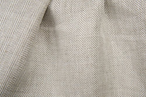 grey linen dress fabric - 8