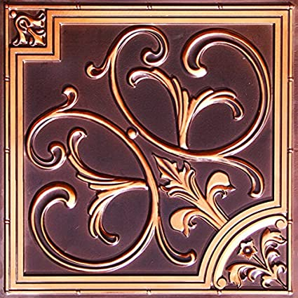 decorative ceiling tiles. Discounted Decorative Ceiling Tile Flat #204 Antique Copper 2x2 Can Be Glue Or Drop- Tiles 4