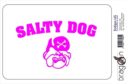 "/""Salty Dog/"" Car Truck RV Boat Ship Wheel Vinyl Decal Sticker"