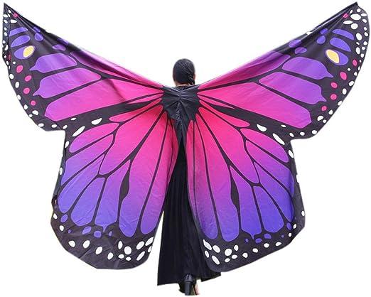 Xmiral Mujer Mariposa Alas Chal Impermeable para Disfraz Danza ...
