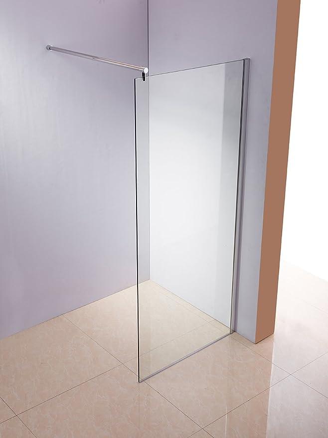 Rapid Teck ® - Cristal de ducha de 10 mm, pared de ducha de vidrio de seguridad ESG, mampara de ducha, cerradura de ducha, cabina de ducha: Amazon.es: Bricolaje y herramientas
