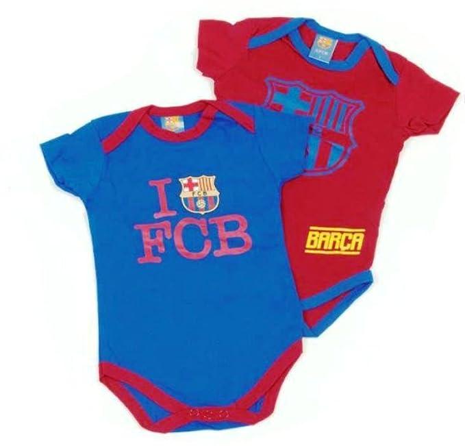 2 Bodys FC Barcelona para Bebé Manga Corta (18 Meses)
