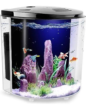 b8a4ba62 FREESEA 1.4 Gallon Betta Aquarium Fish Tank with LED Light and Filter Pump